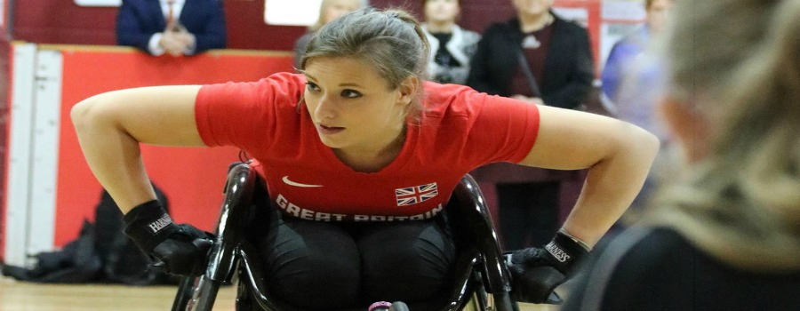 Ex-pupil Carly returns to AoM as a Paralympian to inspire young stars of the future