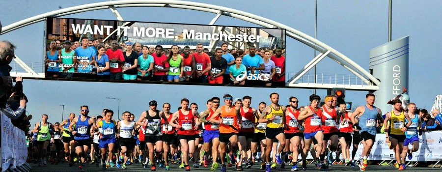 Keep on running….as the Greater Manchester Marathon comes to town this Sunday