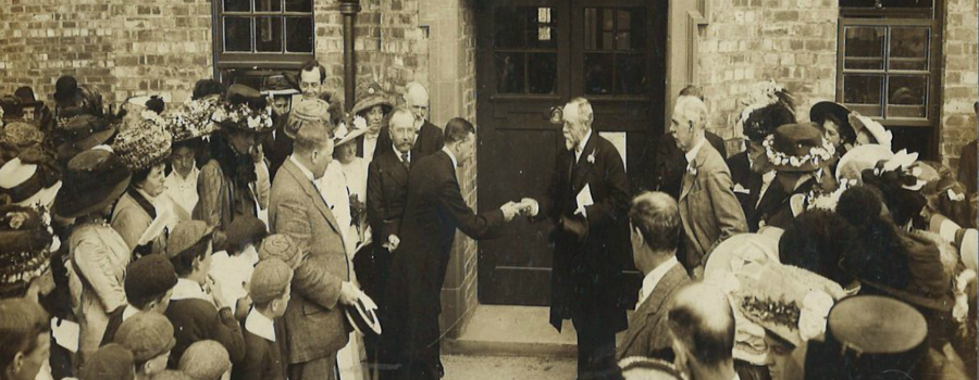 Photographs are released from the 1907 official opening of Sale school