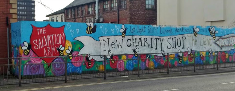 Light shines through darkness – is the theme for a new Sale mural in tribute to the victims of the Manchester bomb