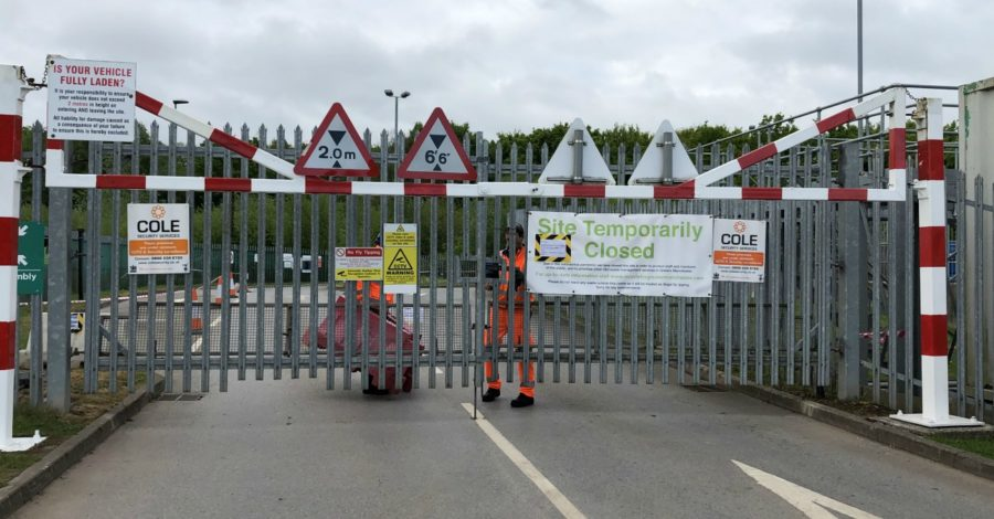 Drivers trying to break recycling centre rules are turned away